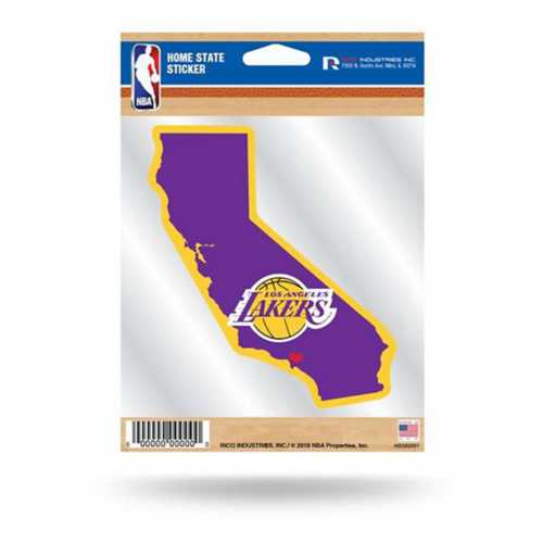 Rico Los Angeles Lakers Home State Sticker
