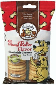 Exclusively Dog Peanut Butter Sandwich Cremes Dog Treats