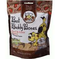 Exclusively Dog Beef and Liver Flavor Best Buddy Bones Mini Dog Treats