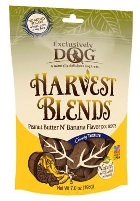 Exclusively Dog Harvest Blends Peanut Butter N' Banana Flavor Dog Treats