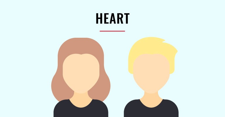 heart shaped faces