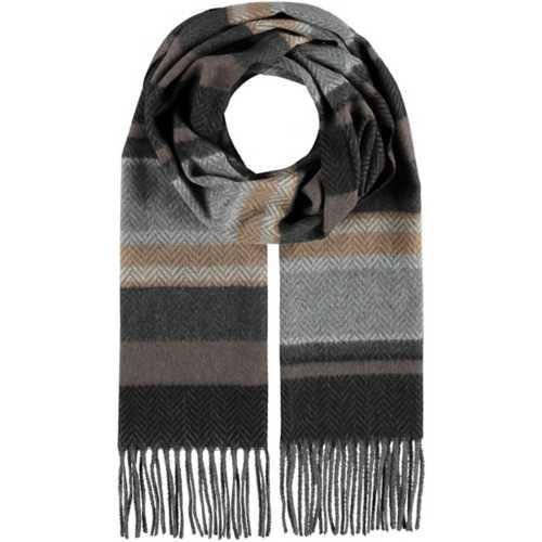 Men's Fraas Cashmink Herringbone-Stripe Scarf