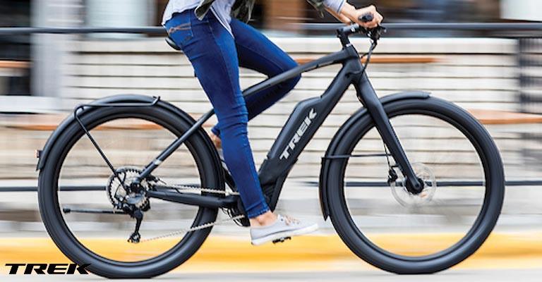 Riding an e-bike