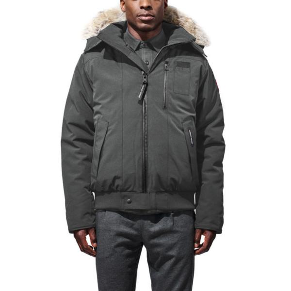 canada goose borden bomber graphite mens jackets