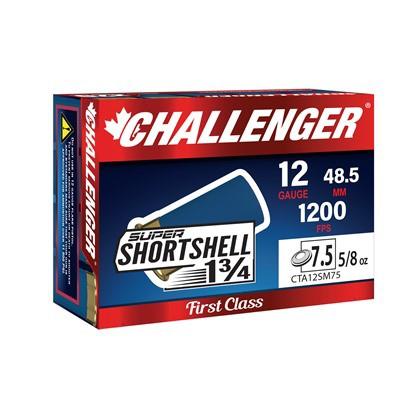 Challenger Super SHORTshell 12ga #7.5 1200fps 20/bx 300/cs
