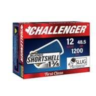 Challenger Super SHORTshell 12ga Slug 1200fps 20/bx 300/cs