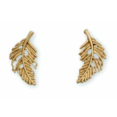 Women's Howard's Feather Gold Earrings