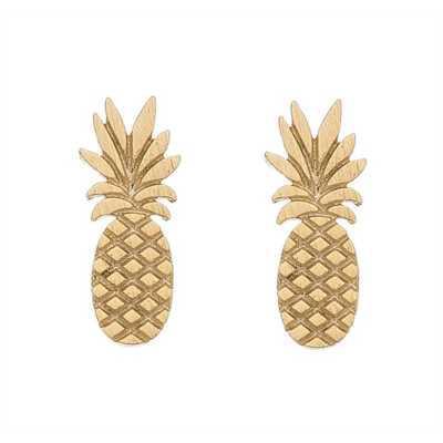Women's Howard's Pinapple Gold Earrings