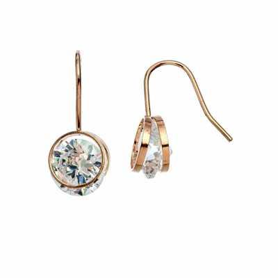 Women's Howard's Circle Drop Dazzler Gold Earrings