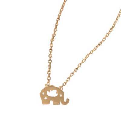 Women's Howard's Elephant Gold Necklace
