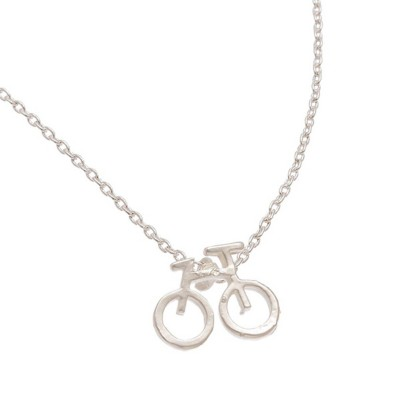 Women's Howard's Bicycle Silver Necklace