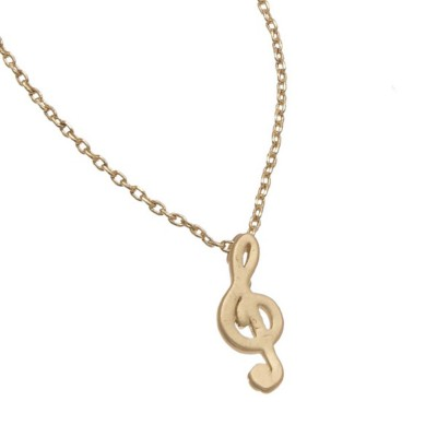 Women's Howard's Treble Clef Gold Necklace