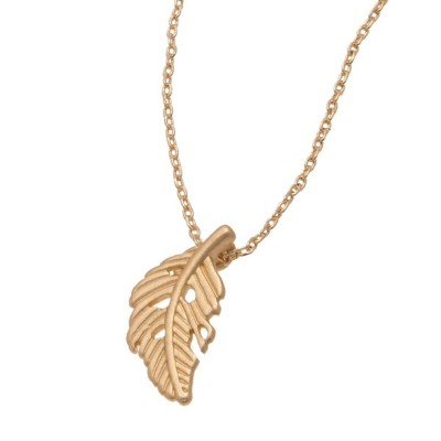 Women's Howard's Feather Gold Necklace