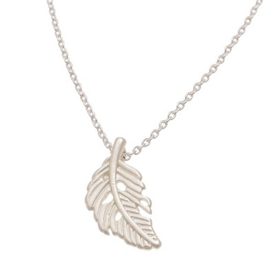 Women's Howard's Feather Silver Necklace