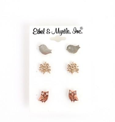 Women's Ethel & Myrtl Trio Birth Tree Own Earrings