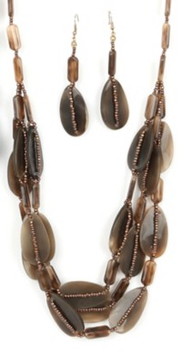 Women's Ethel & Myrtl Teardrop Beads Necklace & Earring Set