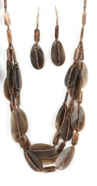 Women's Ethel & Myrtl Teardrop Beads Necklace & Earring Set