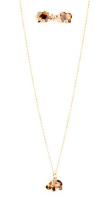 Women's Ethel & Myrtl Elephant Necklace & Earring Set