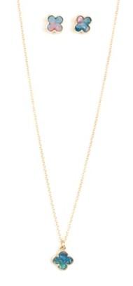 Women's Ethel & Myrtl Clover Necklace & Earring Set