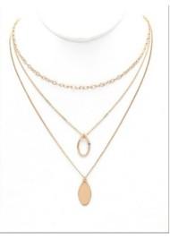 Women's Ethel & Myrtl Oval Circle Necklace