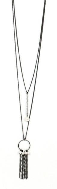 Women's Ethel & Myrtl Linear Pearls Necklace
