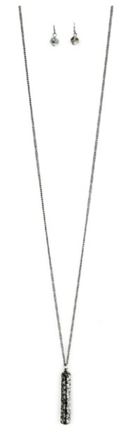 Women's Ethel & Myrtl Crystal Bar Necklace & Earring Set