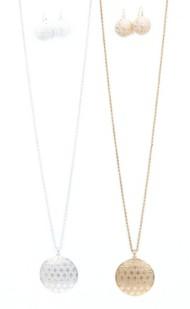 Women's Ethel & Myrtl Filigree Drop Necklace & Earring Set