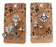 Women's Ethel & Myrtl Card Crystals Ring