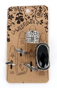 Women's Ethel & Myrtl Card Burnished Ring