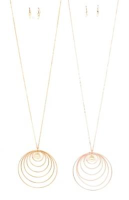 Women's Ethel & Myrtle Peal Rings Necklace/Earring Set