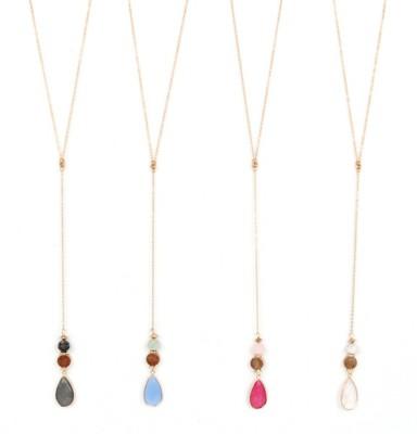 Women's Ethel & Myrtle Stone Drop Necklace