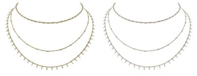 Women's Ethel & Myrtle 3-Row Spike Necklace