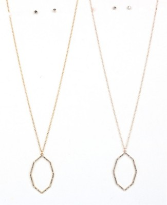 Women's Ethel & Myrtle Moroccan Cry Necklace/Earring Set