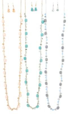 Women's Ethel & Myrtle Beaded Thread Necklace/Earring Set