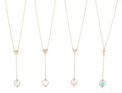 Women's Ethel & Myrtle Drop Y Beaded Necklace