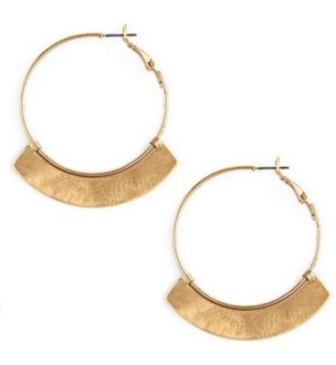 Women's Ethel And Myrtle Curved Metal Hoop Earrings