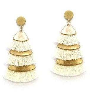 Women's Ethel And Myrtle Layered Tassel Earrings