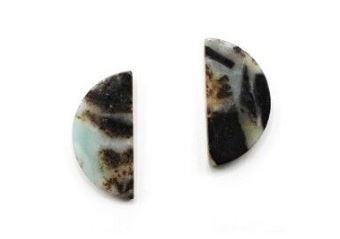 Women's Ethel And Myrtle Amazonite Semi Precious Earrings