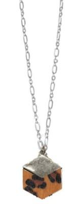Women's Ethel And Myrtle Topaz Leopard Wood Necklace