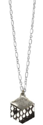 Women's Ethel And Myrtle White Snakeskin Wood Necklace