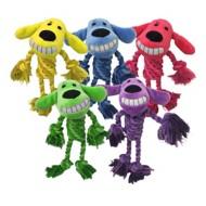 Multipet Rope Body Loofa Dog Toy