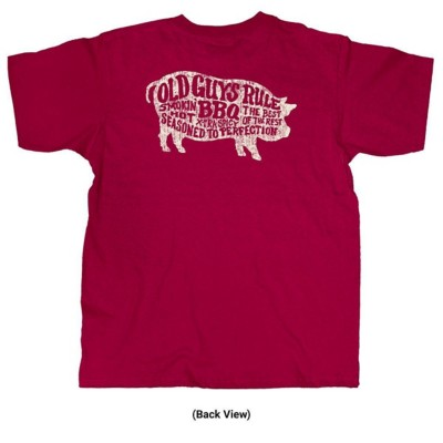 Old Guys Rule BBQ Pig T-Shirt