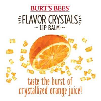 Burt's Bees Sweet Orange Flavor Crystals Lip Balm