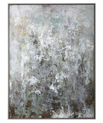 Uttermost Company Sea Mist Hand Painted Canvas