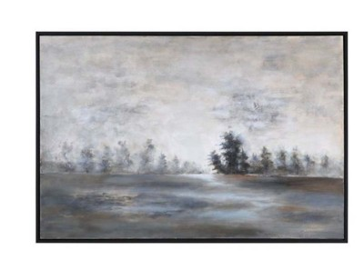 Uttermost Company Evening Mist Hand Painted Canvas