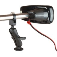 RAM Medium Arm Trolling Motor Stabilizer with Strap Hose Clamp