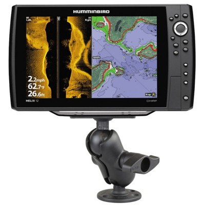 RAM Drill-Down Double Ball Mount for Humminbird Helix 9, 10 & 12