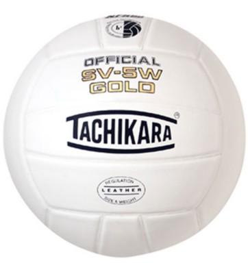 Tachikara Gold White Premium Leather Volleyball