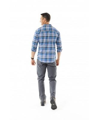 Men's Royal Robbins Performance Flannel Plaid Long Sleeve Shirt