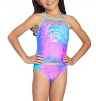 Youth Girls' Breaking Waves Mermaid Off Duty Bikini Set
